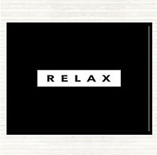 Black White Dark Relax Quote Mouse Mat Pad