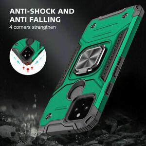 For Google Pixel 5A 5G Shockproof Hybrid Armor Ring Holder Stand Case Cover