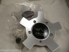 Avarus Wheels Silver Custom Wheel Center Caps # MS-CAP-Z216  W/ BOLTS (SET OF 2)
