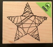 """Hero Arts """"Wire Star"""" Wood Mounted Rubber Stamp *New*"""