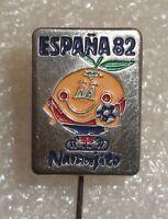 Spain Espana 82 FIFA Football World Cup 1982 Official Mascot Naranjito pin badge