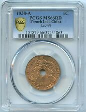 French Indo-China Cent. 1938 A Paris KM-12.1 PCGS MS66 RD