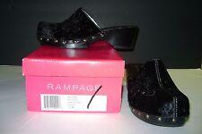 NIB Rampage Women's Junior's Beyond Velvet Beaded Clogs / Mules Black Size 10