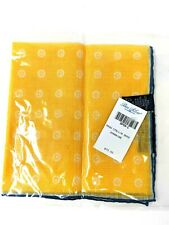 BEN SILVER Yellow Sunshine Dots Cotton Linen Pocket Square NEW WITH TAG