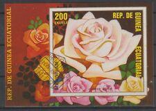 v1127 Äquatorialguinea/ Blumen-Rosen   MiNr Block 316 o