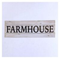 Farmhouse Farm Country Rustic Kitchen White Sign Wall Plaque or Hanging