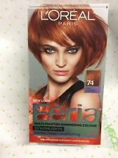 L'OREAL FERIA MULTI-FACETED SHIMMERING #74 Copper Shimmer Deep Copper Hair Color