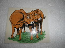 """1990S  3""""   SMOOTH SURFACE WATER TRANSFER OF TWO BROWN COWS"""
