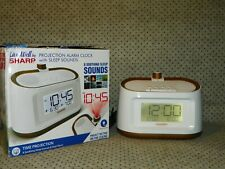 Sharp Projection Alarm Clock with Sleep Sounds SPC585