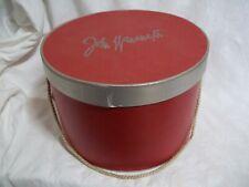 "Vtg Wanamaker's Red Hat Box - Philadelphia Pa - 10"" Diameter: Great Looking!"