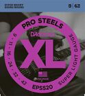 D'Addario EPS520  ProSteels Super  Light  Electric Guitar Strings 9 - 42 EPS 520 for sale