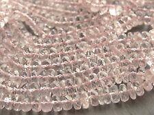 """Mano sfaccettate morganite rondelle perline, GRADUATI 5.2 mm - 6mm, 15 """", 125 + Perline"""