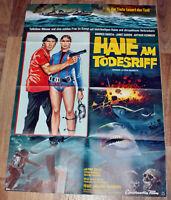 HAIE AM TODESRIFF Org. Plakat A 1 -1978- Andrés Garcia, Janet Agren HORROR