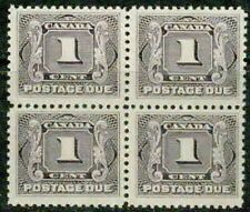 CANADA – 1906  – 1ST POSTAGE DUE  BLOCK OF 4 – VF  **
