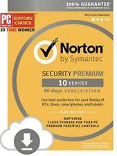 Norton Security Premium 10-Devices+ Secure PC Cloud Storage PC/MAC GLOBAL!