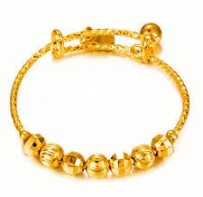 18k Gold Bracelets Bangles Girls Childrens Kid's Babys Adjust w GiftPkg D288