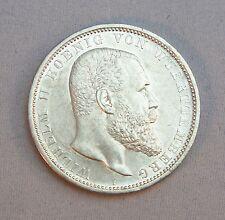 Silbermünze 5 Mark Deutsches Reich Münze Wilhelm II Wuerttemberg 1908