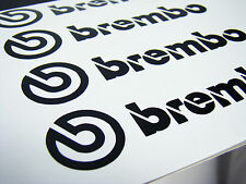 4x 90MM BREMBO BLACK BRAKE CALIPER DECALS STICKERS HIGH TEMP