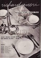 PUBBLICITA' 1939 RICHARD GINORI SERVIZIO TAVOLA PORCELLANA TERRAGLIE L.VERONESI