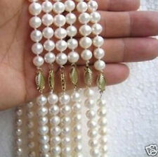 wholesale 6 pieces necklaces 8-9mm white FW pearls 18''