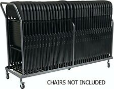 Vertical Storage Folding Chair Dolly - 32 Folded Chairs Stacking Dolly