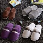 New Women Men Open Toe Winter Slippers Warm Slippers Fleece House Indoor Shoes