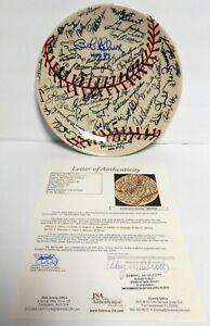 JSA Yogi Berra Ozzie Smith Bob Gibson 30+ sigs signed autographed baseball Plate