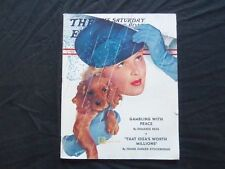 1939 APRIL 8 THE SATURDAY EVENING POST MAGAZINE - ILLUSTRATED COVER - SP 1779