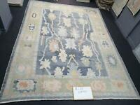 Hand knotted Tribal Turkish Oushak Fine Wool Oriental Rug 10x13