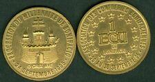 1 ECU TEMPORAIRE DES VILLES DE BONIFACIO 1995  ETAT  NEUF