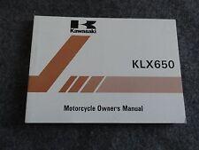 1995 1996 Kawasaki KLX650 Owners Manual KLX  650