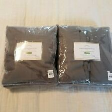 "Pottery Barn Set of 2 Cotton Drapes Cotton Lining 50 x 96"" Grey NEW"