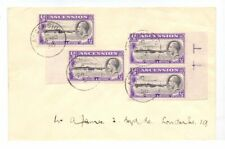 ASCENSION 1936 COVER TO UK 4 x GV ½d