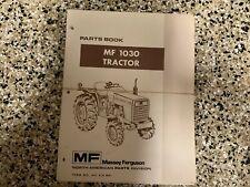 Massey Ferguson 1030 Standard Tractor Parts Book