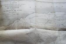 ALGERIE EXPLORATION SCIENTIFIQUE T1  ROUTES ARABES CARETTE CARTE 1844 TUNISIE