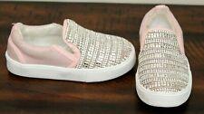 Stuart Weitzman Pink Glitz Sneakers sz 7 Toddler Girls Vance Shoes Slip On