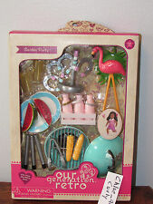"Our Generation RETRO Garden Party FIRE UP THE BARBECUE Set 18"" Girl Doll AG NEW"