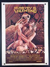 Original 1977 NUREYEV IS VALENTINO 30 x 40 Movie Poster ~ RUDOLPH NUREYEV