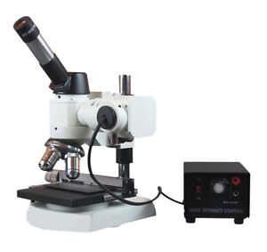 2000x Metal Alloy Grain Testing Metallurgical Top Light Microscope w XY Stage