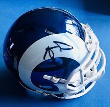 Aaron Donald, Signed Autographed Rams Blue & White Chrome Mini Helmet, JSA COA!