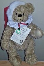 "Hermann 14"" White Mohair Limited Edition Christmas Bear"