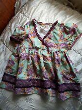 Matilda Jane 6 - Girls Flutter Top Tunic - Floral Multi,purple,blue,orange...