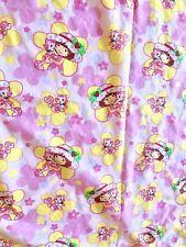 Strawberry Shortcake And Custard Cat Toddler Bed Flat Sheet