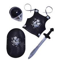 Knight Black Armour Set Child Size, Fancy Dress/Play Set