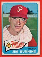 1965 Topps #20 Jim Bunning GOOD+ CREASE HOF Philadelphia Phillies FREE SHIPPING
