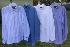 LOT OF  4 Men's XL Ralph Lauren / Tommy Bahamas Long Sleeve Button-Front Shirts