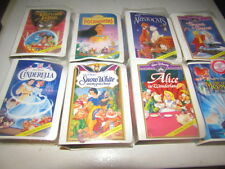 "Disney McDonald's Figures with ""VHS"" cases Lot of 8"
