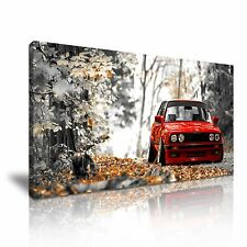CLASSIC BMW CANVAS WALL ART PICTURE PRINT 60x30cm