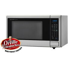 SHARP SMC1442CS 1.4 cu. Ft. Capacity Countertop Microwave Oven - Brushed Stee...