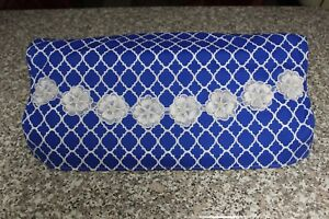 Pazzles Blue & White Embellished Protective Cover